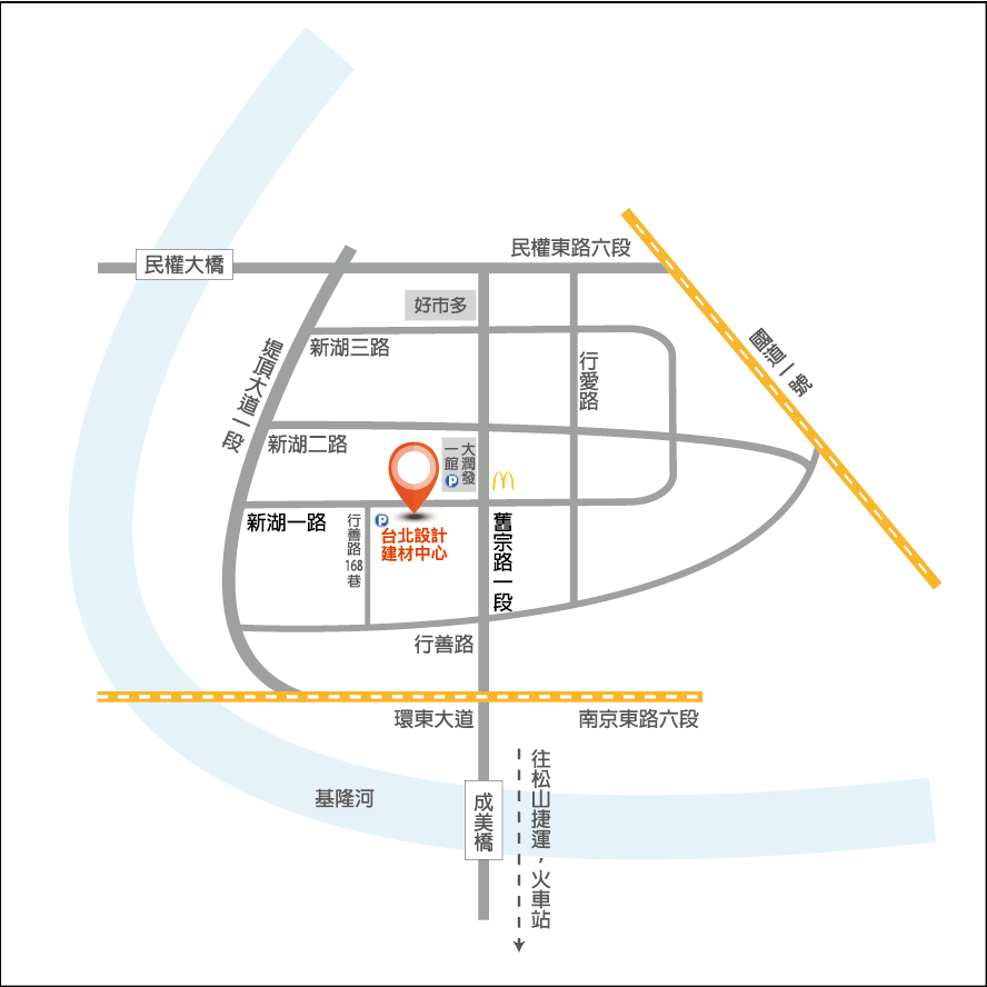 台北設計建材中心 位置圖-01
